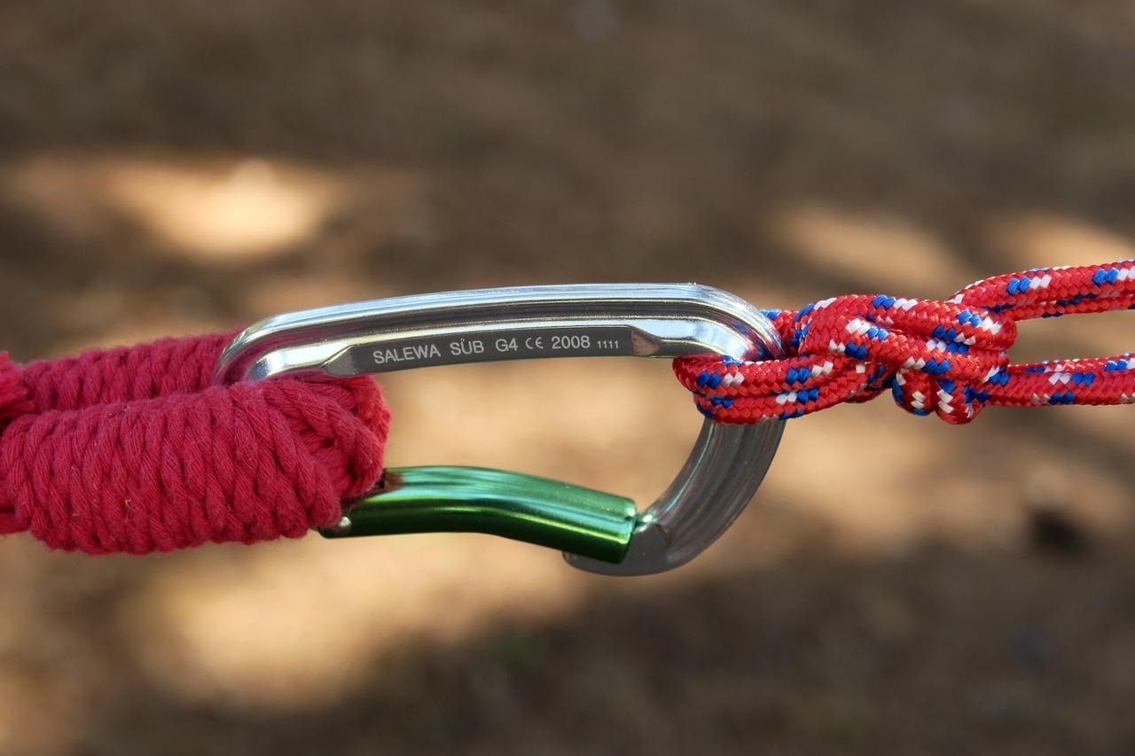 mosqueton para cuerda de escalada