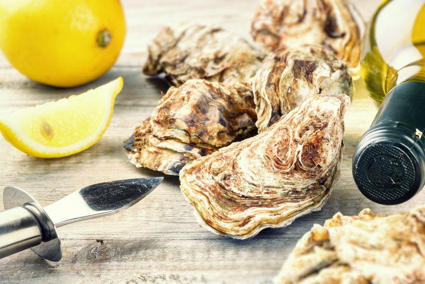 ostras y comida