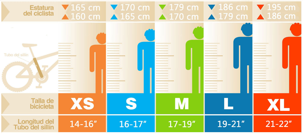 medidas para bicicleta estatura