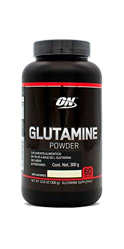 Optimum Nutrition Glutamina En Polvo, Sin Sabor, 300 gramos