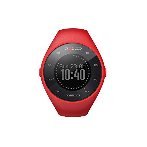 Polar M200 GPS Reloj para Correr, con Monitor cardíaco de muñeca, Rojo, Mediano/Grande