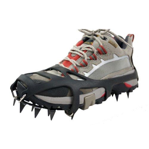 Universal Suelo de Nieve Hielo Antideslizante Crampones Patinaje Zapatos de Nieve Picos Apretones Tacos (M)