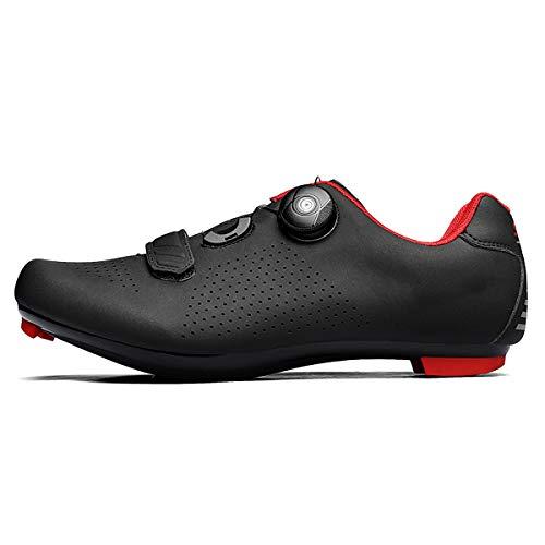 TauLene Zapatillas de Ciclismo para Hombre con, Negro, 10.5 Narrow