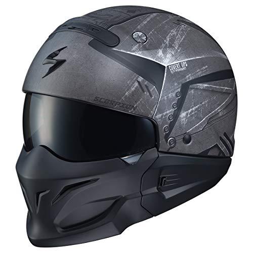 Scorpion Covert Casco de motocicleta para adulto, Negro / Gris, X-large