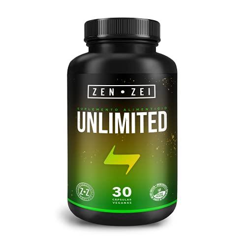 ZZ | UNLIMITED ENERGY | Complejo Energizante 100% Natural — Formulado para: Energía, Claridad, Sin Crash — Con Cafeína, L-Teanina, Guaraná, Gluconato de Magnesio y Complejo B | Calidad Premium