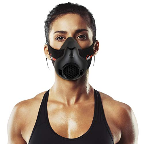 Yafeh - Máscara de entrenamiento deportivo, simulación de alta altitud para entrenamiento de resistencia a la respiración, aumenta tu resistencia para correr, ciclismo y ejercicios de cardio, 16 niveles de respiración