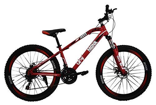 Monk Bicicleta Montaña Inxss Shimano F/DIS Rodada 26 21 Vel (Rojo)