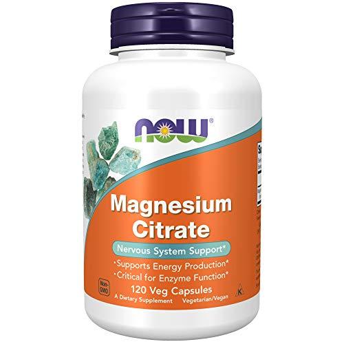 NOW Supplements, Magnesium Citrate, 120 Veg Capsules/NOW Suplementos, Citrato de Magnesio, 120 Cápsulas