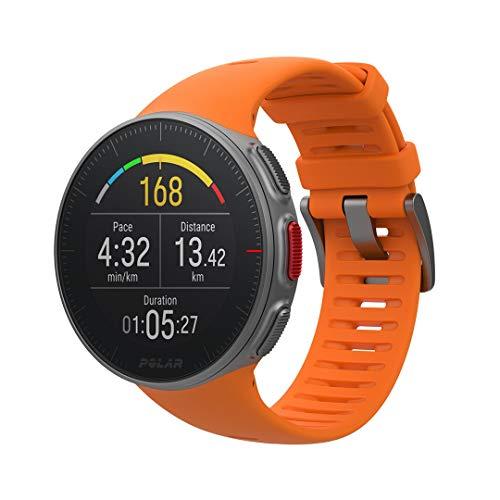 Polar Reloj Multisport Vantage V GPS, Glonass Potencia, color Naranja