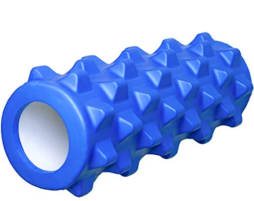 Yo.Fitness Foam Roller para masaje corporal   Cilindro de Hule Espuma para auto masaje y relajacion de musculos   Para tratamiento del dolor miosfascial de espalda, cuello & pierna   Masaje de fascias   Con Ebook