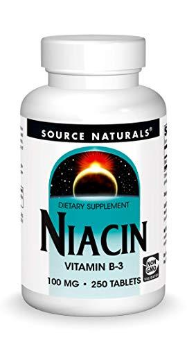 Source Naturals Niacin Vitamin B-3 100mg, 250 Tablets