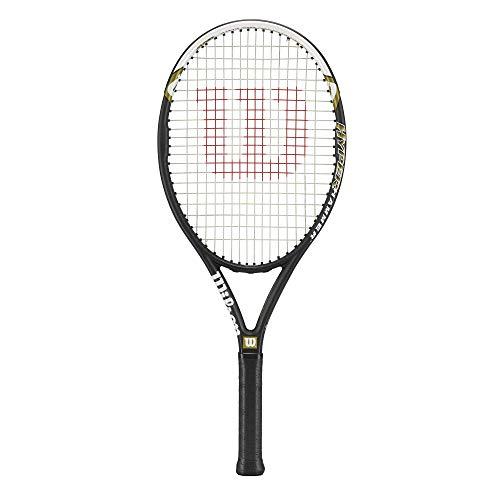 Wilson Hyper Hammer 5.3 Strung Adult Recreational Tennis Racket (Black/White, 4 1/2)