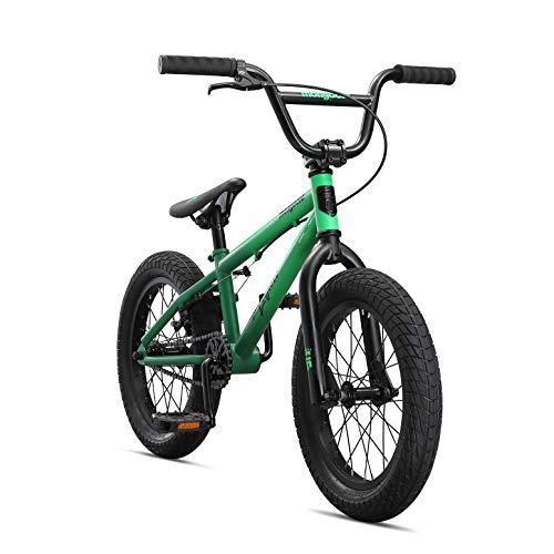 Mongoose Legion Freestyle Sidewalk Bicicleta BMX para niños y principiantes a usuarios avanzados, ruedas de 16-20 pulgadas (40.64 cm - 50.80 cm), marco de acero Hi-Ten, Micro Drive 25x9T engranaje BMX