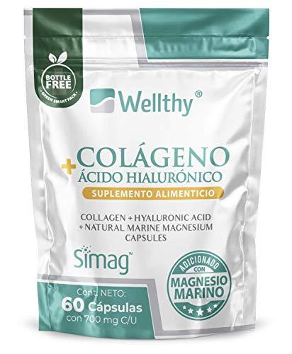 Colágeno Hidrolizado, Ácido Hialurónico y Magnesio marino 60 cápsulas