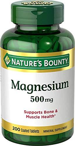 Magnesio de Nature's Bounty   Suplemento   200 Cápsulas   500 mg