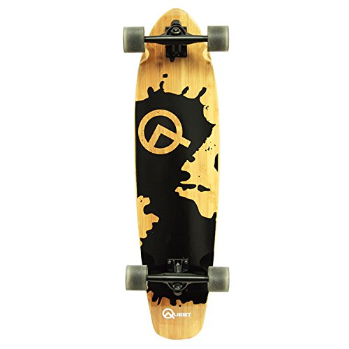 Quest, Rorshack Bamboo, patineta Longboard (34 Pulgadas / 86 cm)