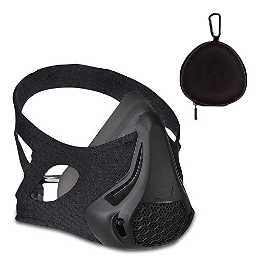 Máscara de entrenamiento SATKULL con 24 niveles de resistencia a la respiración, máscara de entrenamiento, entrenamiento en alta altitud, máscara de gimnasio para cardio, fitness, correr, entrenamiento de alto rendimiento