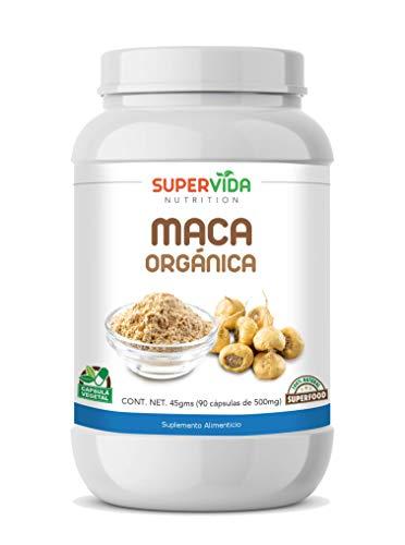 Maca Orgánica en polvo 90 Cápsulas Vegetales de 500 mg MACA   SuperVida Nutrition - Suplementos 100% Naturales