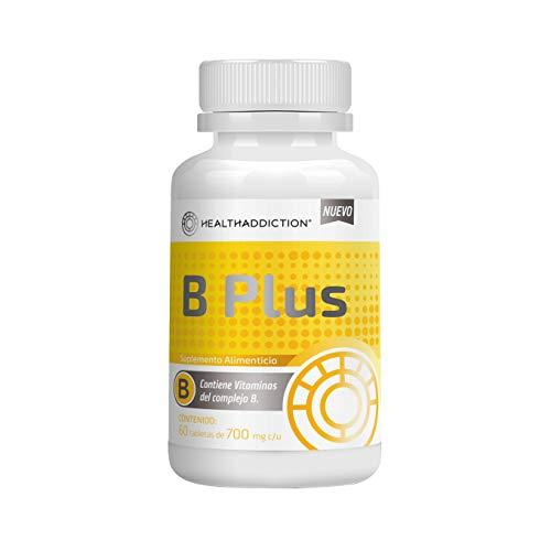 Complejo B HealthAddiction B Complex I Contiene Todas Las Vitaminas Del Complejo B I Brinda Energía I Ayuda a Mejorar La Memoria y Reducir El Estrés I Ayuda Al Sistema Nervioso I Ingredientes 100% Naturales I 60 tabletas de 700mg