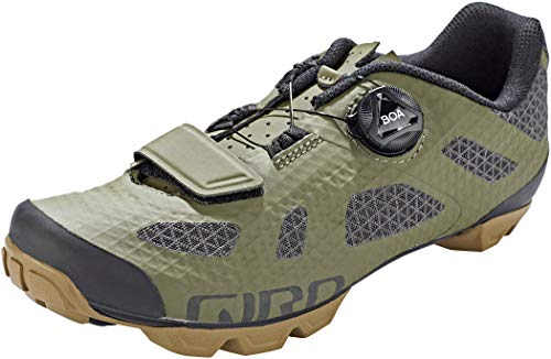 Giro Rincon - Zapatillas de ciclismo para hombre, Oliva/Goma (2021), 9.5 US
