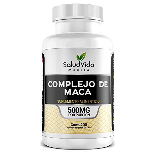 Complejo de Maca (Negra, Roja y Amarilla) en cápsulas - SaludVida (200 cápsulas)