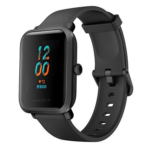 Amazfit Bip S Fitness Smartwatch de 40 días de duración de la batería, 10 Modos de Deporte, frecuencia cardíaca, visualización de 1.28 Pulgadas, Resistente al Agua, GPS Integrado, Carbon Black