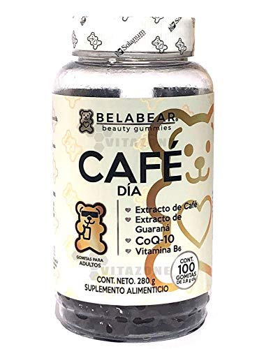 Belabear Café + Guaraná + Coenzima Q-10 100 Gomitas Solanum