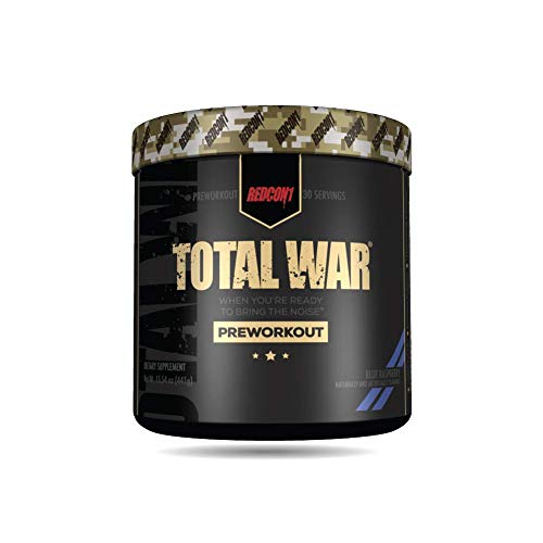 Total War Preworkout Blue Raspberry 441 grs 30 serv Redcon1