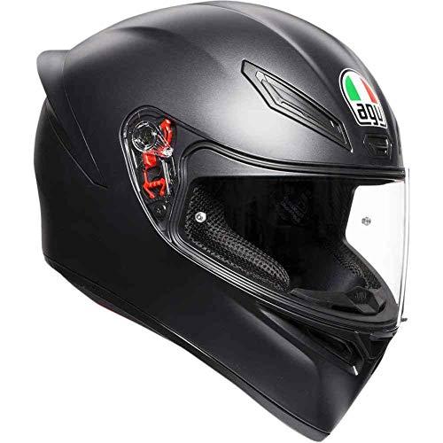 AGV Full Face Agv K-1 Casco de moto negro mate K-1, rostro completo, Negro mate, Large