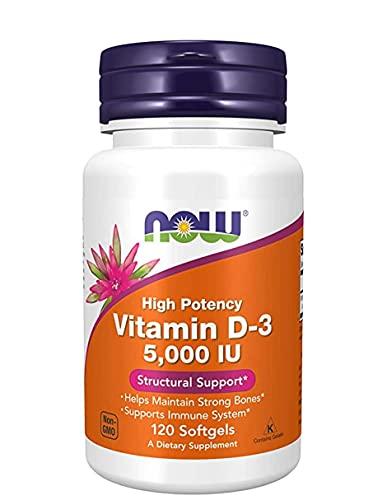 Vitamina D3 5000 IU 120 capsulas - Suplemento Alimenticio