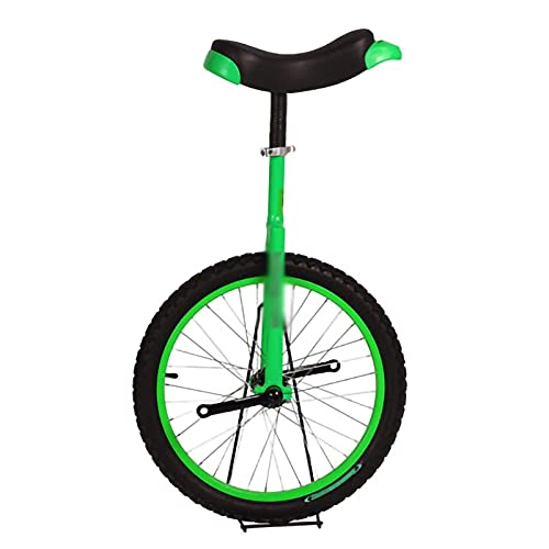 Monociclos para Adultos Niños Monociclos De 18 Pulgadas Bicicleta De Rueda De Ciclo para Hombres Adolescentes Boy Rider,Verde (Color: Verde, Tamaño: 18 Pulgadas) Durable