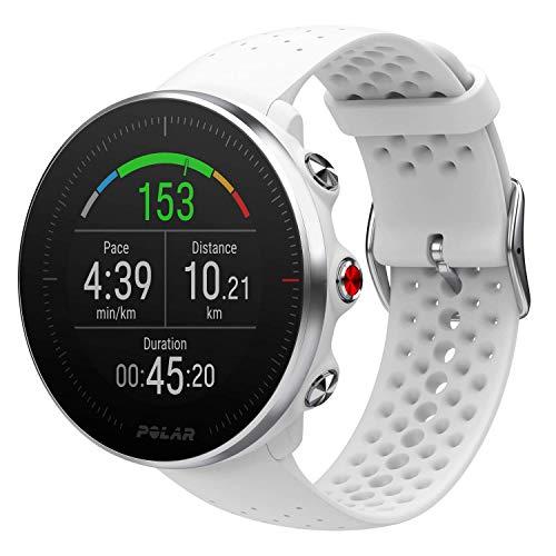 Polar Vantage M Reloj avanzado para Correr y Multideporte con GPS y frecuencia cardíaca basada en la muñeca (diseño Ligero y de última tecnología), Blanco, Pequeño