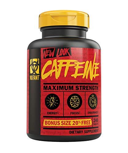 Mutant Cafeína – Píldoras de cafeína puras y sencillas de grado farmacéutico, restaurar la alerta mental o la vigilia cuando se fatiga, 240 tabletas por botella
