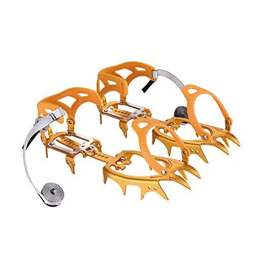 BRS Professional Outdoor Climbing Cinturones de Aluminio Ajustable no Deslizante (Orange)