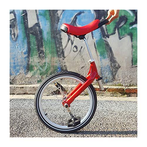 JFF Monociclo de 20 Pulgadas, Monociclo al Aire Libre Ajustable Rojo Fresco con Ruedas neumático Antideslizante Bicicleta de llanta de aleación Ajustable en Altura