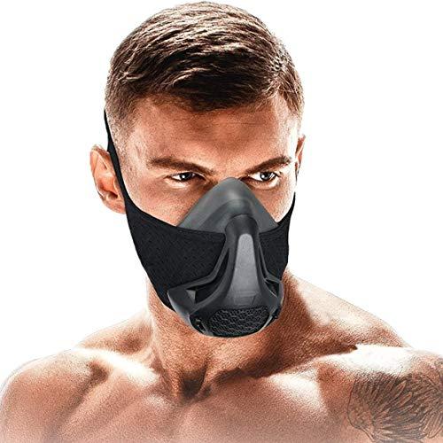SATKULL Máscara de entrenamiento 3.0, máscara de entrenamiento de gimnasio para hombres, máscara de elevación para cardio, correr, resistencia y rendimiento respiratorio
