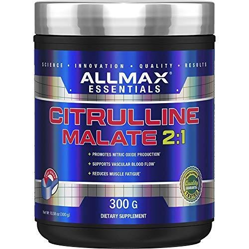 ALLMAX Nutrition Citrulline Malate, Unflavored, 150 Serving (300 Gram)