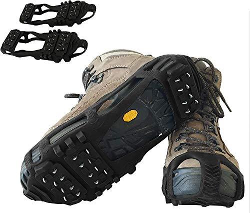 Limm Crampones de tracción de hielo - tacos de tracción ligeros para caminar sobre la nieve y el hielo - Antideslizantes de zapatos rápida y fácilmente sobre el calzado, pinzas de hielo portátiles para zapatos y botas