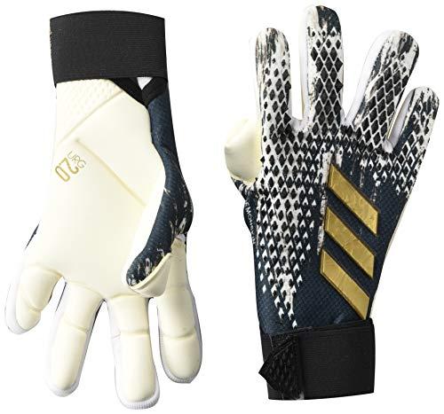 Adidas Predator, Guantes de Portero- Unisex, Negro/Blanco/dorado metálico, 11