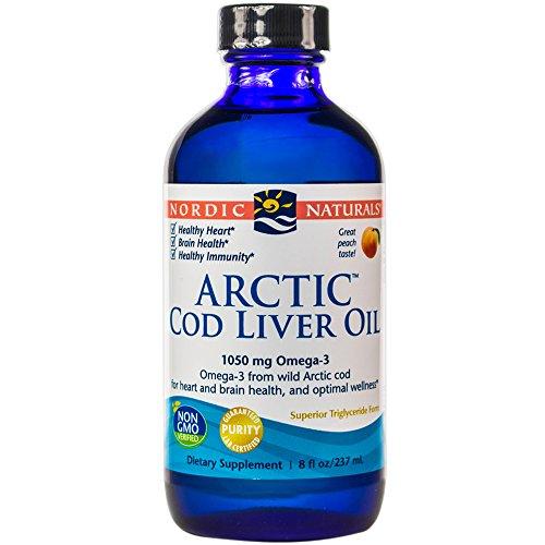 Nordic Naturals - ARC ártico, salud del corazón y del cerebro, y bienestar óptimo, melocotón, 8 onzas líquidas (FFP)