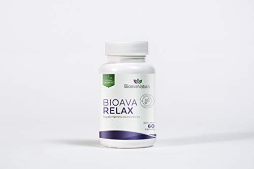 BIOAVA RELAX. Suplemento premium para dormir mejor 100% natural- Formulado para tener un sueño reparador - Incluye: Mezcla de Aminoácidos Ácido Gamma Aminobutirico y L-Triptófano 5HTP, Magnesio y Melatonina - Cápsulas veganas