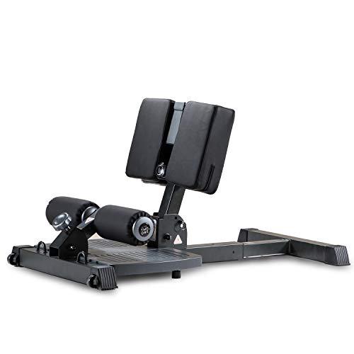 leikefitness - Máquina de ejercicio deluxe multifunción, máquina de sentadilla profunda para gimnasio en casa, estación de entrenamiento para piernas, máquina de ejercicios, Negro-8300