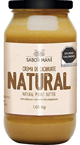 SABOR MANÍ Crema de cacahuate natural 1.05kg