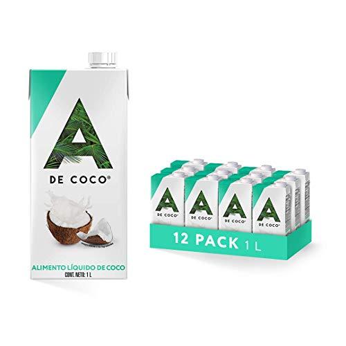 A de Coco, Alimento Líquido de Coco 1L - Paquete de 12