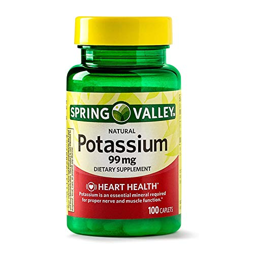 Spring Valley - Potassium Gluconate 595 mg (Potassium 99mg) , 100 Caplets by Spring Valley