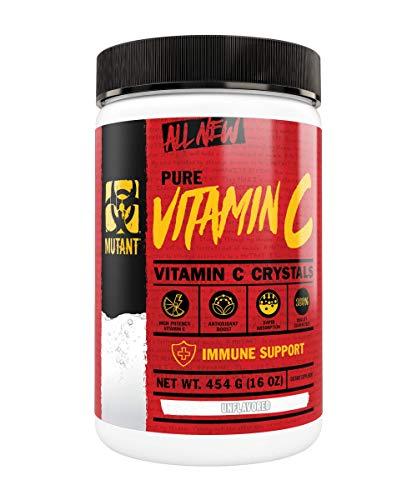 MUTANT 100% Pure Vitamin C Powdered Crystals- Immunity Boosting - Non-GMO and Plant Based - 454 g