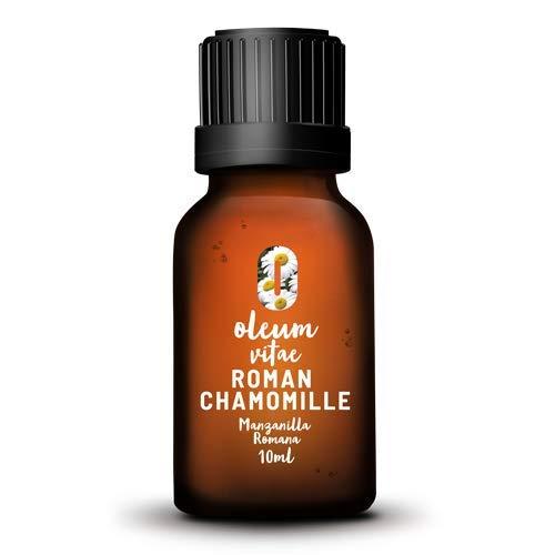 Aceite Esencial de Manzanilla Romana (Anthemis Nobilis) 100% Puro y Orgánico. 10 ml. Hecho en India. Certificado UK CERT. Marca OLEUM VITAE
