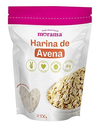 Morama, Harina de Avena Natural, Proteina Saludable, Cocinar Recetas Dulces o Saladas, Vegana, 350 gramos