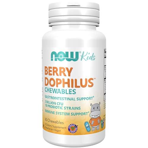 Now Foods | BerryDophilus™ Kids - 60 Chewables | BerryDophilus ™ Niños - 60 tabletas masticables