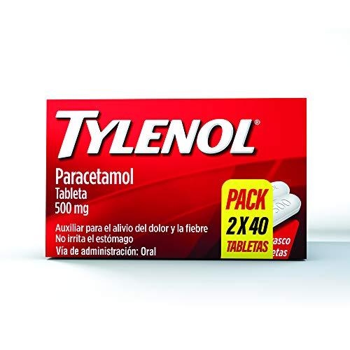 Tylenol Analgésico Tylenol 2 Paquetes De 40 Tabletas 500 Mg, color, 80 count, pack of/paquete de